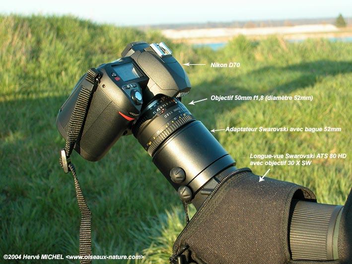Digiscopie avec un reflex num rique for Objectif miroir 50mm